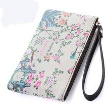 2016 Fashion Print women clutch wallet Long zipper wallets Women's Clutches Mobile phone bags Card purses small bag Wristlets