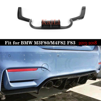 Car-Styling Carbon Fiber Rear Bumper Lip V Style Diffuser For BMW F80 M3 & F82 M4 2013-2018