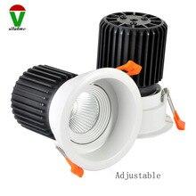 Новейший 10 шт/партия белый 20 Вт регулируемый не с регулируемой окружностью квадратный полый светодиодный светильник 115 мм
