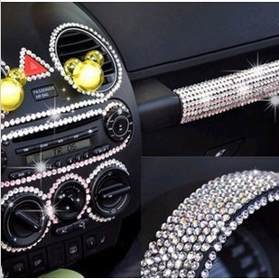 819 promotion ew Arrival DIY Crystal Sticker Rhinestone Car Decal Acrylic 6mm Car Accessories Decoration Strip