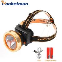 4000LM Inside Rechargeable Battery Head Lamp Torch Hunting Light USB Solar Energy Powerful Led Headlamp Solar headlights