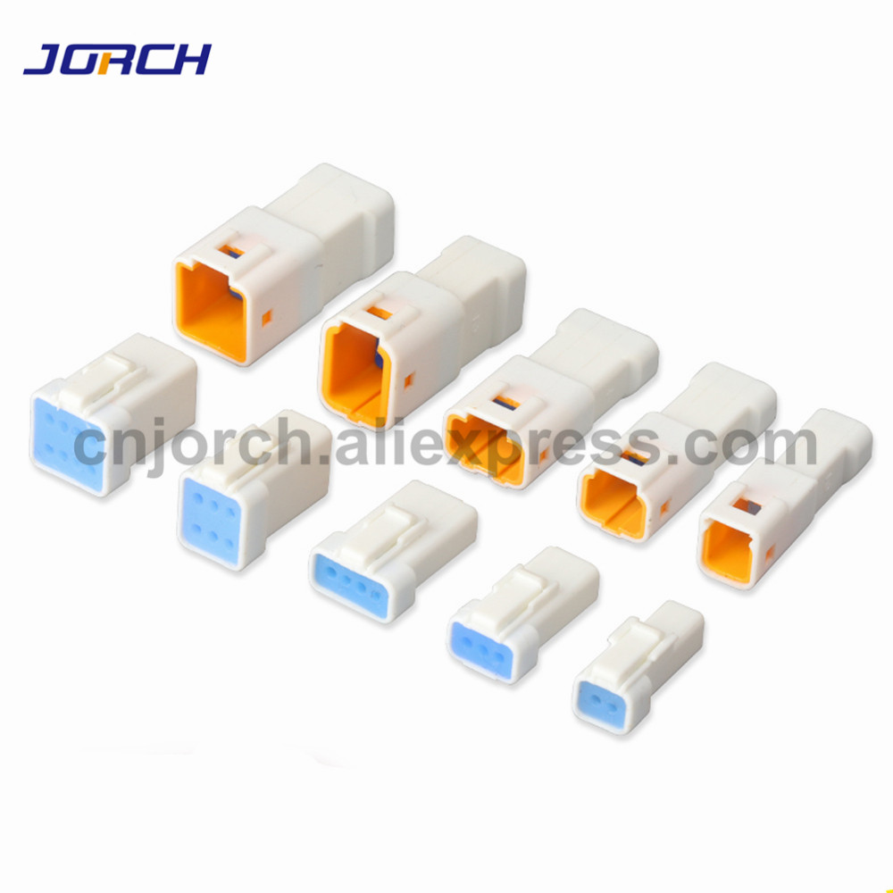 1set Mini Car JWPF Series 2/3/4/6/8pin Male Female Automotive Connector Waterproof Housing Plug JST06R-JWPF-VSLE