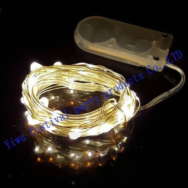 Hot Cr2032 Battery Pack Light String Headband Lihts Christmas Lights
