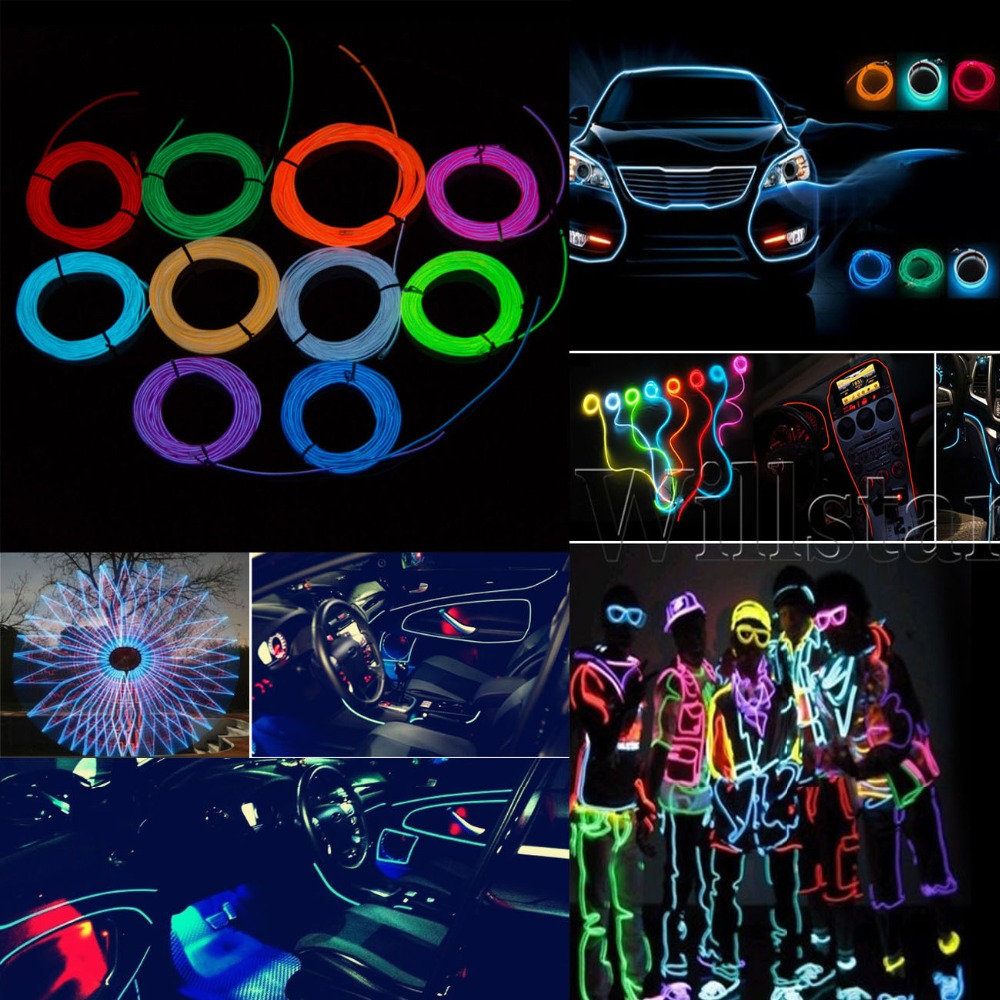 POSSBAY 3M Flexible Car 12V 110V EL Wire Rope Neon Light Glow Decor Party  Dance Fit Infiniti Land Rover Lexus Lotus Etc In Signal Lamp From  Automobiles ...