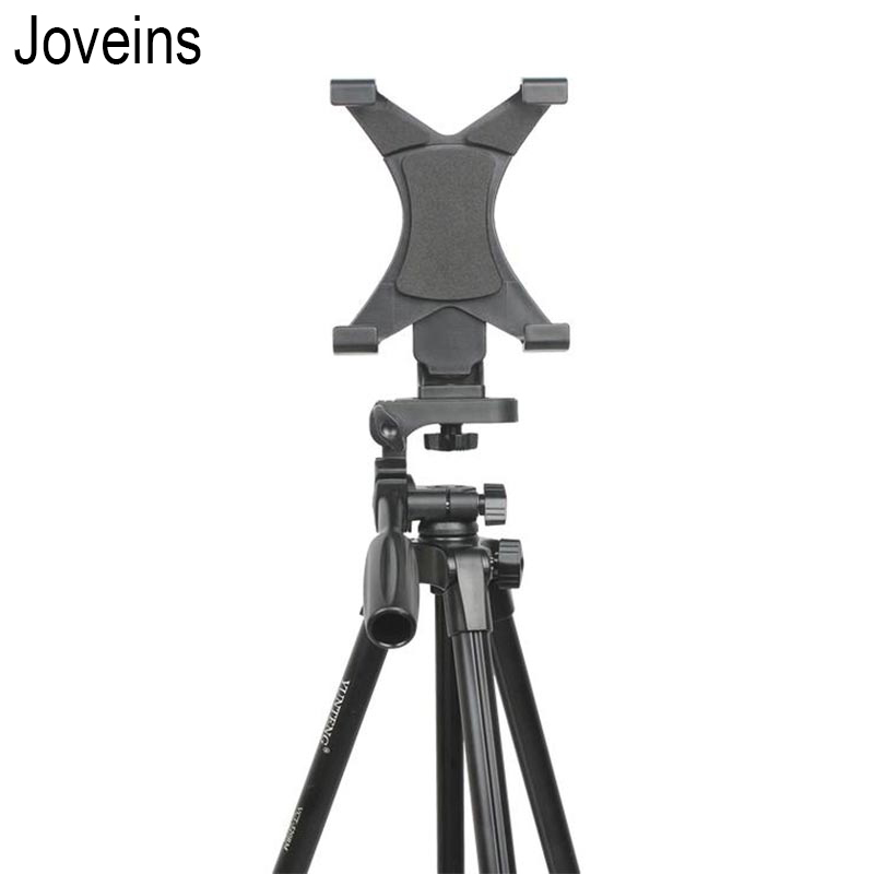 JOVEINS Universal Tripod Mount Adapter Cell Phone Clipper Holder Vertical Tripod Stand for Tablet PC pad 1 2 3 mini