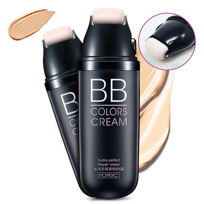 Roller Natural Face Cream Facial Cream BB Cream Face Concealer Dark Spot Foundation Waterproof Nude Beauty Makeup Kit 1pc multifunction makeup brushes and 15 color concealer oblique wooden handle mask powder facial face cream set beauty tools
