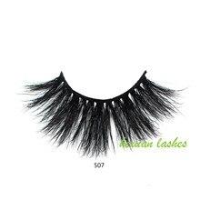 Hexuan False Eyelashes 5D Mink 25mm Natural Long Lashes High Volume Fluffy Eyelash Cruelty Free Dramatic Lash Makeup