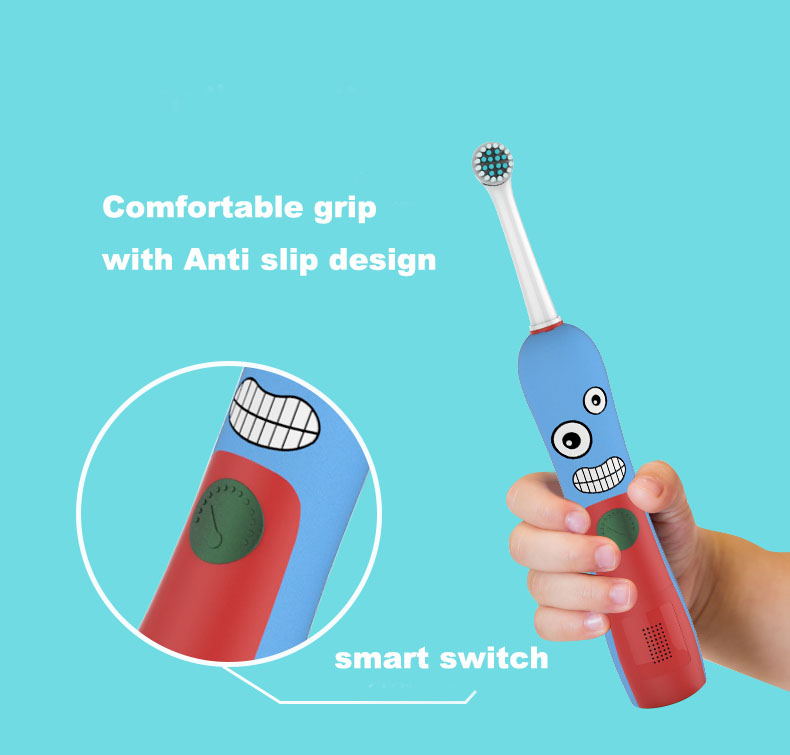 Kid's Children Cartoon Electric Toothbrush Oral Hygiene Electric Massage Teeth Care Kids Toothbrush Cleanser with music timer ultra soft children kids cartoon toothbrush dental health massage 1 replaceable head outdoor travel silicone retractable folding