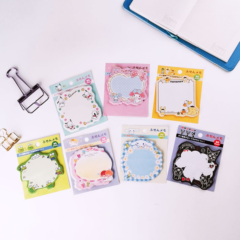 1X Sweet Pudding Dog Creativity  Memo Pad  Stickers Notes Portable Message Stickers Pad Sticky DIY Office School Stationery