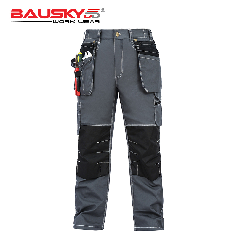 mesn cotton pants work wear clothing mulit tool pockets pants trousers durable and wear resistant overalls knee pads B119 in Safety Clothing from Security Protection