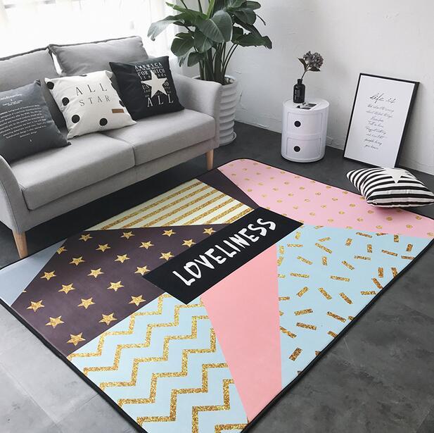 150x190 cm INS grand Super doux flanelle tapis nordique 15mm épaissir salon tapis tapis de jeu tapis antidérapant tapis couverture - 4