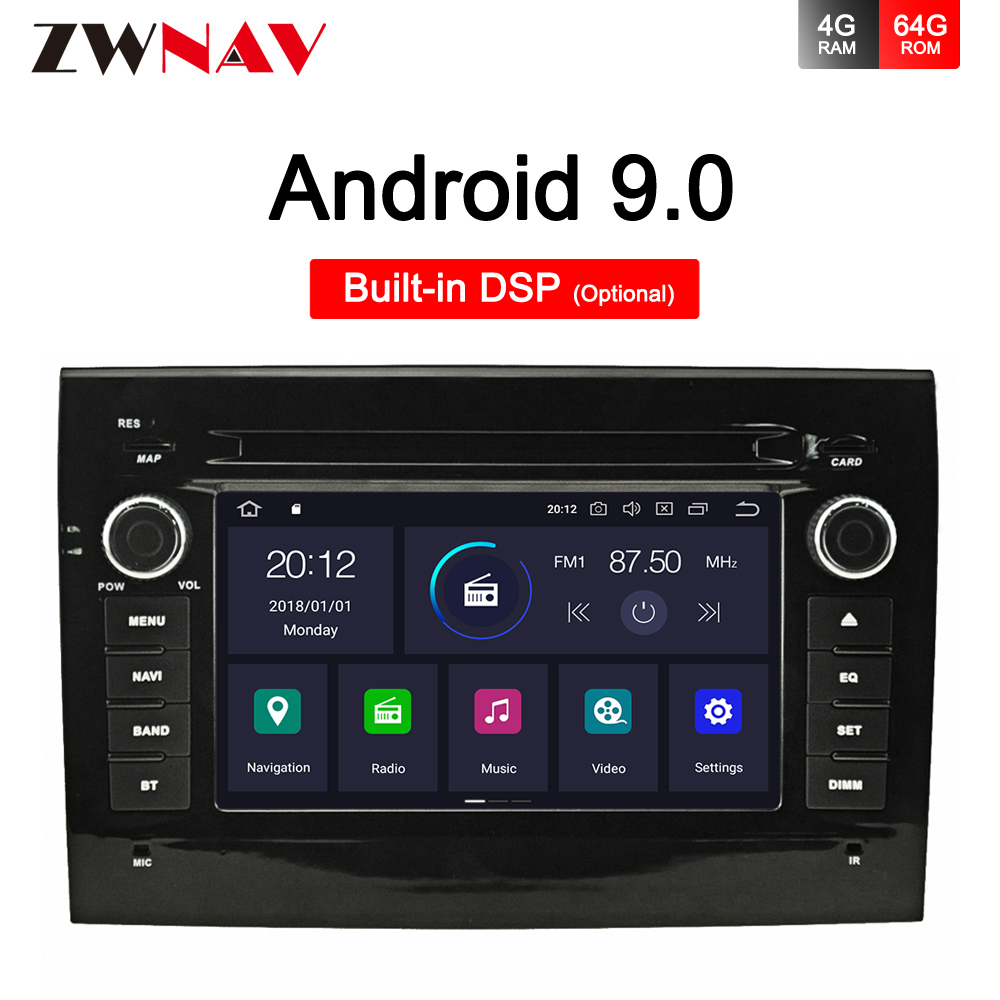 Android 9.0 Car Radio DVD Player BT GPS Multimedia Stereo for Fiat Ducato 2002 2003 2004 2005 2006 2007 2008 radio type recorder