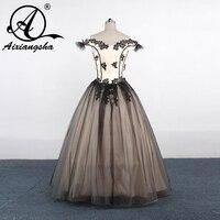 New Arrival Custom Made 2017 Women Elegant Party Dress Sleeveless Formal Long Lace Black Evening Dresses