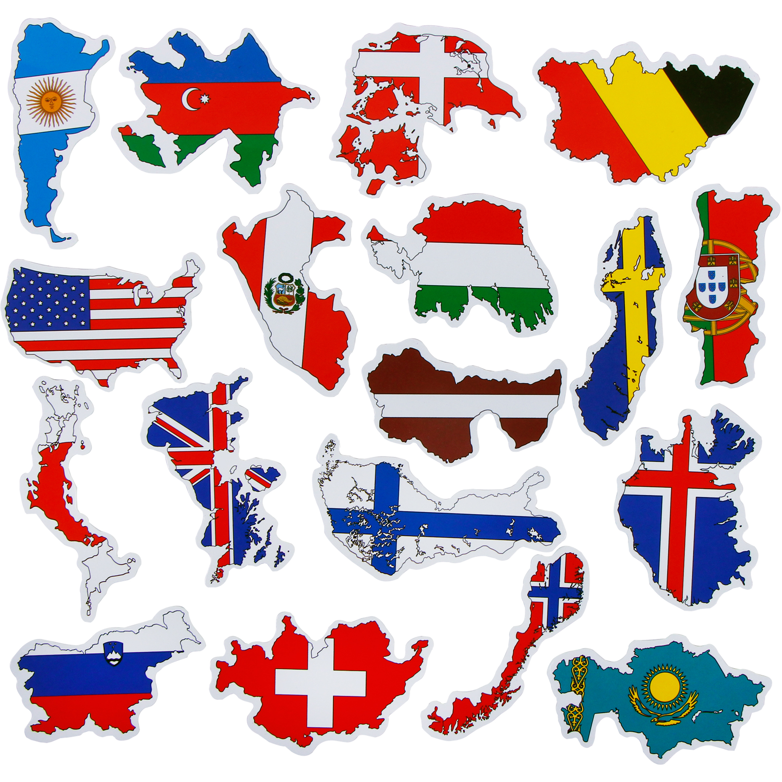 50 Pcs National Flags Sticker Toys For Children Countries Map Travel Sticker To Laptop Motorcycle Bike Travel Case Accessories