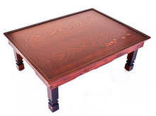 Korean Table Folding Legs 60*45CM Living Room Antique Tea Table Rectangle Dining Table Traditional  Korean Style Furniture thai crafts wooden tray table foldable legs window small table thai furniture southeast asian style home bamboo tea table