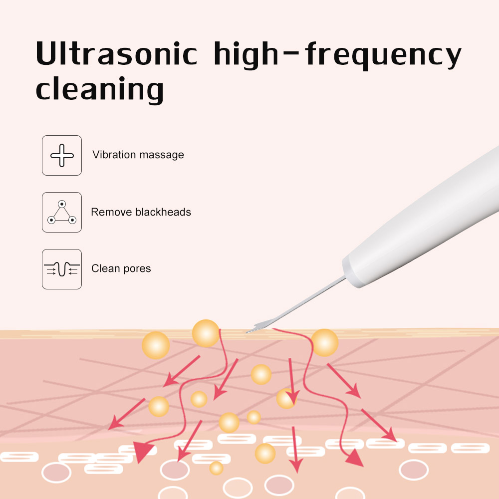 Ultrasonic Skin Scrubber Deep Cleaning Face Scrubber Vibrating Facial Cleansing Spatula Microdermal Beauty Instrument Device (6)