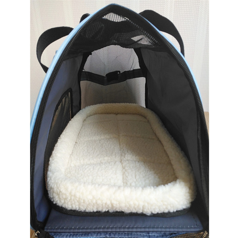 Folding Pet Carry Bag Oxford Breathable Mesh Cat Carriers Udendørs - Pet produkter - Foto 5
