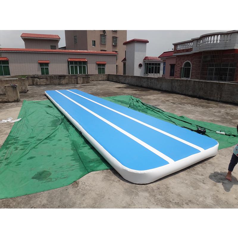 8m air track gymnastics mats inflatable air track tumbling for outdoor training hot sale inflatable air tumble track gymnastics for sale