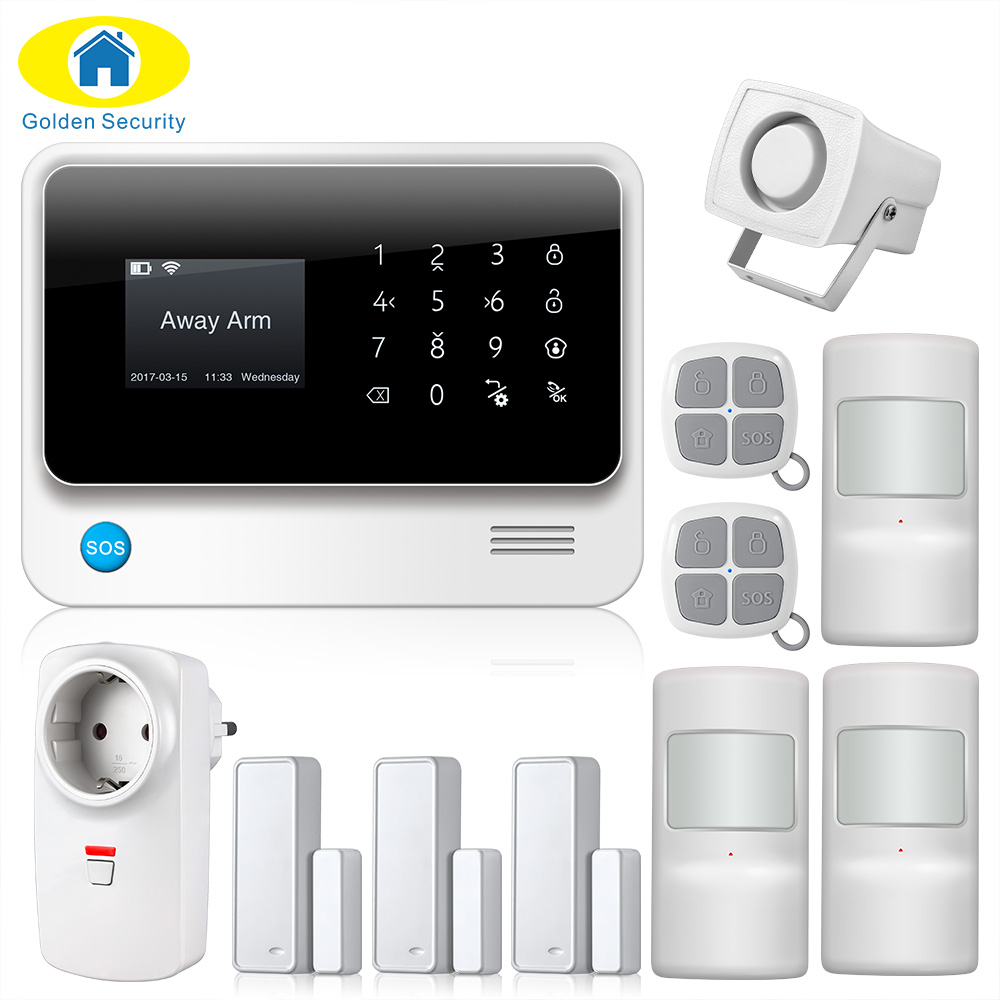 2017 G90B-PLUS GSM Alarm System APP Remote Control Smart Socket Home Intelligent GSM GPRS SMS Wifi Alarm System Security Door wireless remote control power socket smart rf socket control power for home appliance compatible with g90b wifi gsm sms alarm page 7