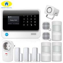 2017 G90B-PLUS GSM сигнализация Системы приложение Дистанционное управление умная розетка умный дом GSM GPRS SMS Wi-Fi сигнал Системы дверь