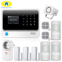 2017 G90B PLUS GSM Alarm System APP Remote Control Smart Socket Home Intelligent GSM GPRS SMS Wifi Alarm System Security Door