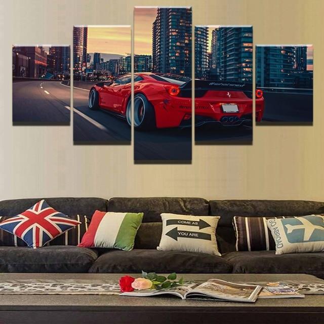 Ucuz Satis 5 Adet Hd Baski Bmw Araba Posteri Modern Dekoratif