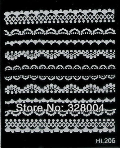 Finger applique nail art watermark stickers water transfer printing applique black decal c series HL219-HL230