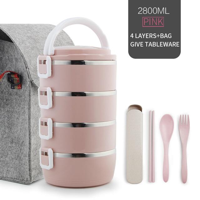 4 Layer Pink Set Cheap bento boxes 5c6479e2ef006