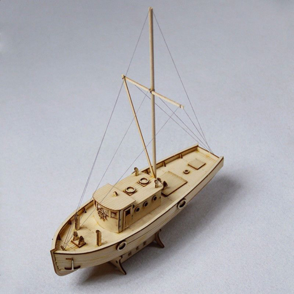 "HANDMADE CRAFTS HOME DECORATION 9.4/"" WOODEN SAILING BOAT SHIP VESSEL MODEL"