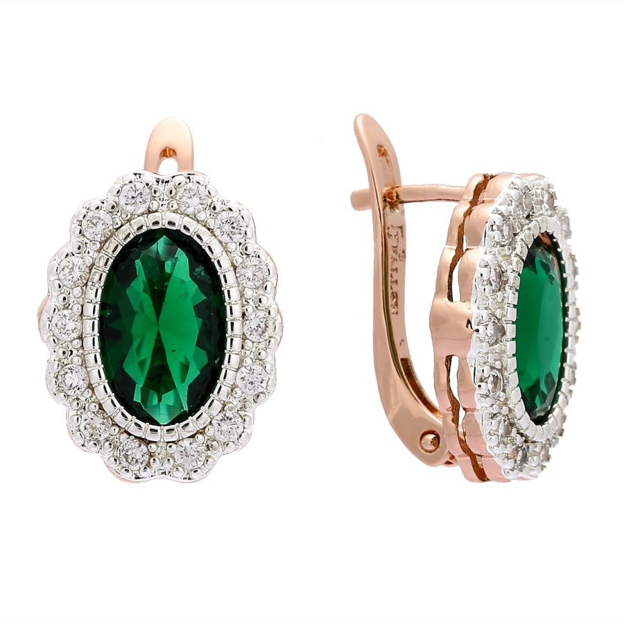 c6d1ffcb2 Round Crystal Earrings 2018 New Fashion Earring Trendy 585 Gold Color Jewelry  Luxury Green Stone Women