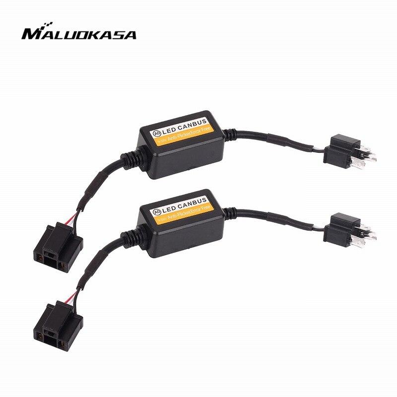 MALUOKASA 9005 9006 H1 H11 H4 H7 LED Canbus Auto Scheinwerfer Decoder Verdrahtung Adapter DRL LED Lampe Fehler Canceler Nebel licht Canbus