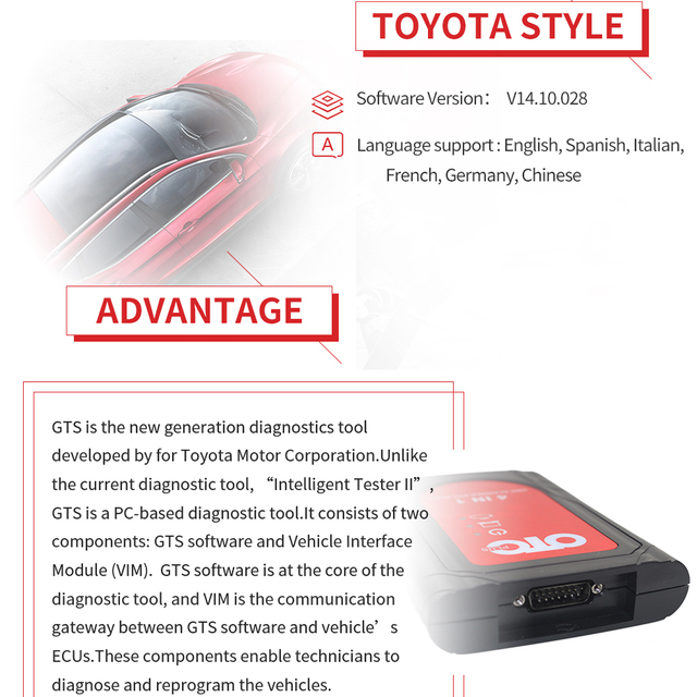 Auto Diagnostic Scanner OTC PLUS Scanner Auto Diagnostic ForToyoya Fornissan count3/4 Forvolvo 3 in1 Software 2014D V14.10.028