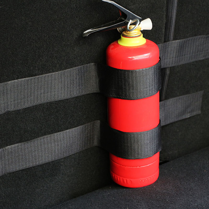 Car Trunk Storage Bag Magic Tapes Fire Extinguisher Bandage Fixed Stickers Straps For Ford Kia Peugeot