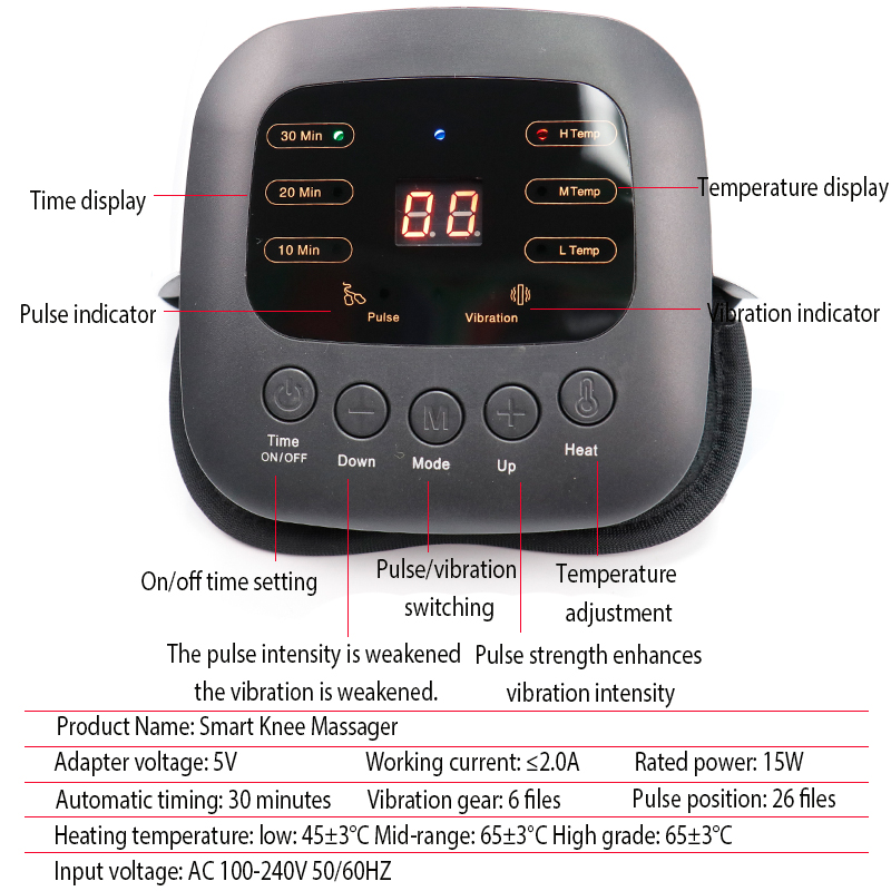 Image 5 - 1pcs Smart Knee Massager Pain Relief Acupuncture Rheumatic Instrument Infrared Heated Vibration Therapy Osteoarthritis Arthritis-in Massage & Relaxation from Beauty & Health