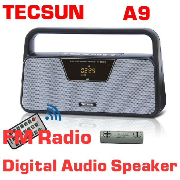 TECSUN A9 FM Stereo Radio Reception LED Digital Display MP3 Player Computer Speaker Radio Receiver Portable Radio panasonic rf p50eg9 s radio fm stereo portable radio receiver music play speaker full band