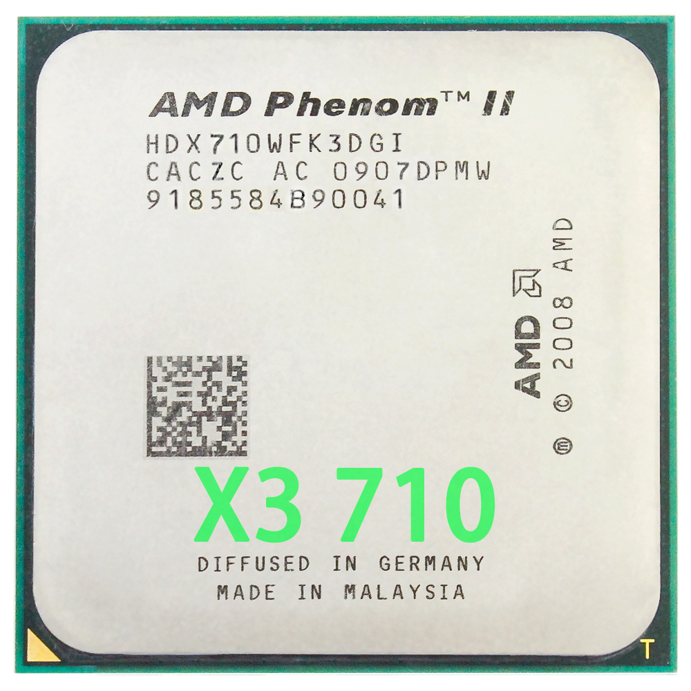 AMD Phenom II X3 710 Triple-Core CPU procesador 2,6 GHz/6 m/95 W/2000 GHz Socket am3 am2 +