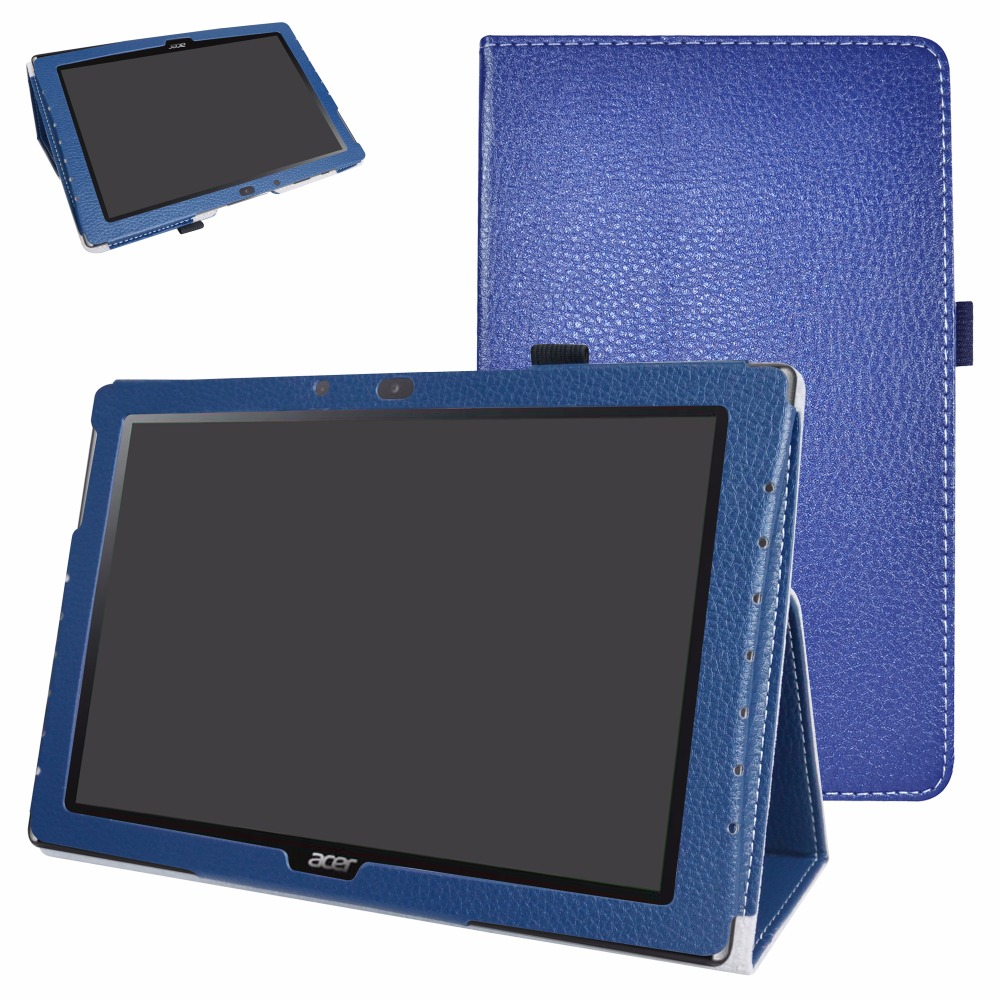 Folio Stand PU Leather Tablet Case For 10.1 Acer Iconia One 10 B3-A40 Android Tablet Cover slim print case for acer iconia tab 10 a3 a40 one 10 b3 a30 10 1 inch tablet pu leather case folding stand cover screen film pen