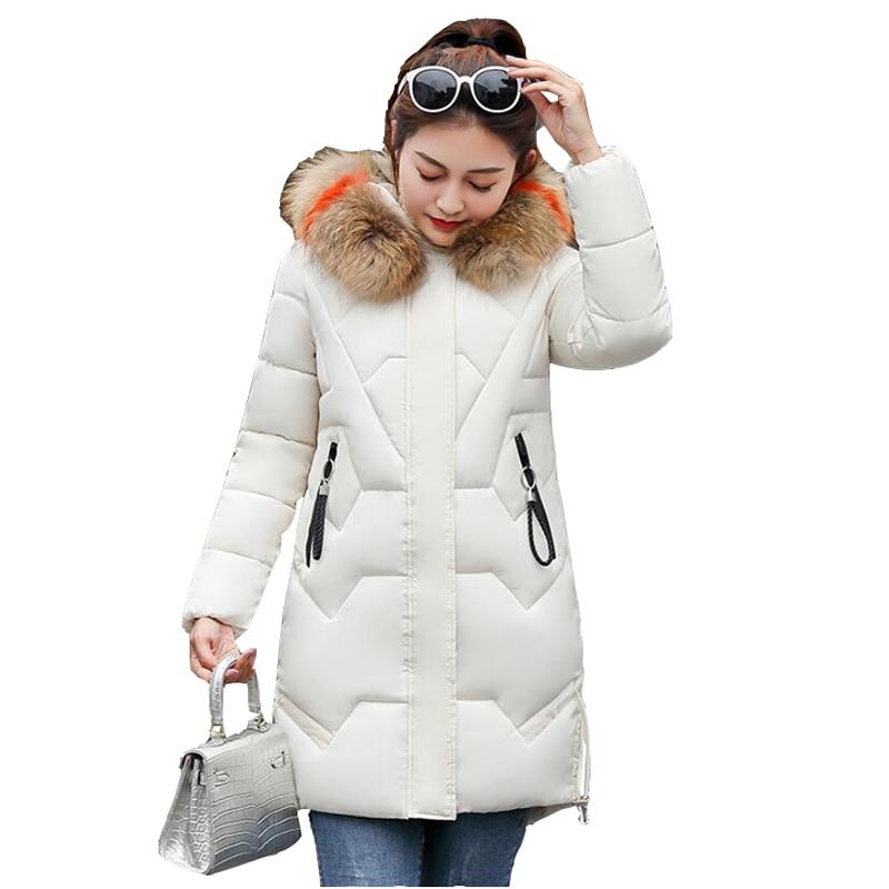 Parker Down cotton Coats Women   Parkas   Winter Long Chinese Jacket For Ladies Winter Long Coat Jaquetas Fur collar   Parkas   Mujer