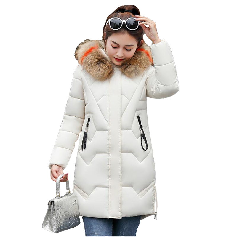 Parker Down cotton Coats Women Parkas Winter Long Chinese Jacket For Ladies Winter Long Coat Jaquetas Fur collar Parkas Mujer