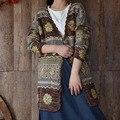 Japón Mori Chica Vintage Hippie de Boho Étnico Bohemio Con Cuello En V Cardigan Suéter Harajuku Chaqueta Kimono Mujeres Cardigan de Punto Túnica
