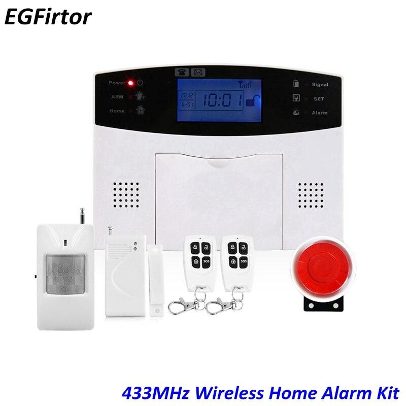 APP Contrôle Accueil Système D'alarme Anglais Espagnol Russe Voix Maison Intelligente GSM PSTN Système D'alarme Antivol 433 MHz Télécommande
