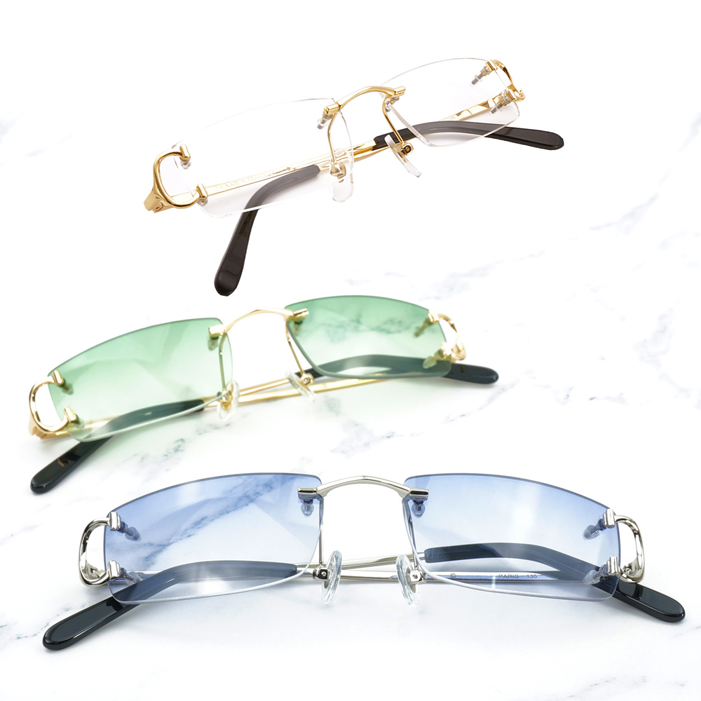 Rimless Sunglasses Men Women Fashion Sun Glasses Frames Vintage Eyewear Decoration Reading Glasses Frame Beauty Accessories 827 hair dryer