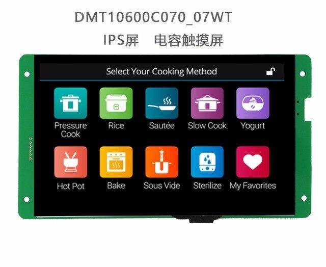 Dmt10600c070_07w 7 polegada dwin porta serial hd ips tela de toque rtc leitor de música...