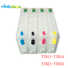 Vilaxh For Epson T2521 Refillable Ink Cartridge T7011 T7021 T7031 For Epson WorkForce WF-3620 WF-3640 WF-7610 WF-7620 WF-7110