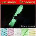 20FT 6 Meters Glow In The Dark Nylon Paracord 550LB 9Strands Survival Luminous Parachute Cords Lanyard Ropes Camping Equipments