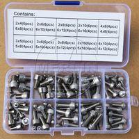 M2 M3 M4 M5 M6 Stainless Steel Allen Hex Socket Head Cap Screws Assortment Kit