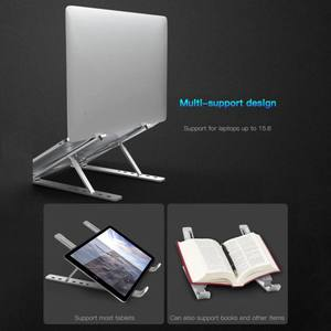 Image 4 - Portable Notebook Stand Laptop Bracket Aluminum Alloy Adjustment Lift Shelf Can be Stored in a Computer Bag