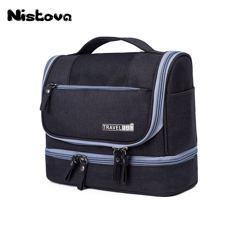 a849fded3056 New Waterproof Men Hanging Makeup Bag Oxford Travel Organizer Cosmetic Bag  for Women Necessaries Make Up