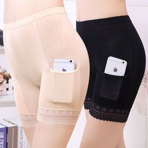 Safety Shorts Pants Plus Size Safety Pants boxer Shorts Under Skirt With Pockets Safety Shorts Under Skirt Thigh Chafing Lace(China)