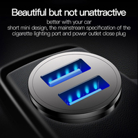 Totu quick charge 3.0 usb car charger for iphone xs samsung xiaomi mini dual usb fast car charging mobile phone charger adapter